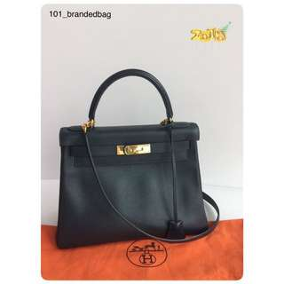 Hermes Kelly 28 Epsom Dark Blue