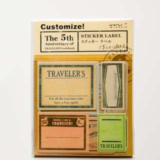 Traveler's Notebook Sticker (Ref No.: 058)