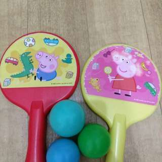 Peppa pig 乒乓球拍波(少玩)