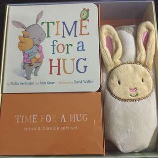 Time for a Hug - book and baby blanket set