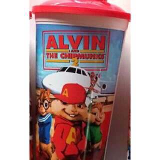 Alvin and the chipmunks collectible cup with topper