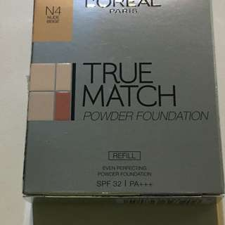 Brand new Loreal True Match Powder Foundation Refill. Colour: N4 Nude Beige