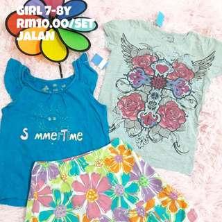 Tshirt & Skirt GIRL 7-8y