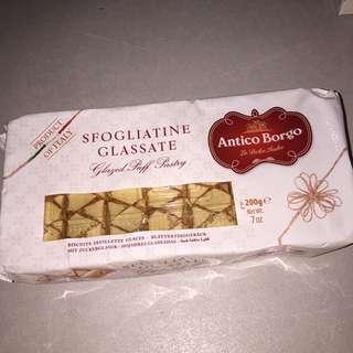 Italian glazed puff pastry