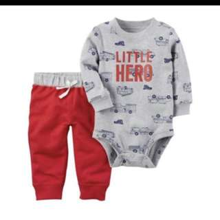 *12M & 18M* Brand New Carter's 2-Piece Bodysuit and Pant Set For Baby Boy