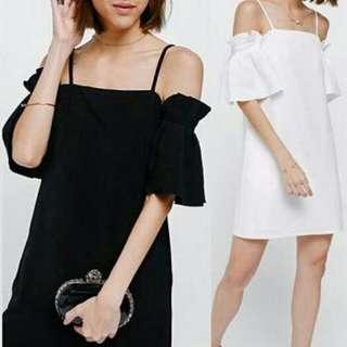 BLP. LAYLA DRESS 50.000 Dress bahan twiscone,  model sabrina tali dan ada karet di lengan,fit to L