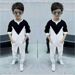 BLP. Set nathan black 50.000 Bhn babyterry, clna n baju lengan pjg fit to 3-5thn