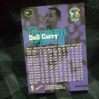 Dell Curry Basketball Trading Card