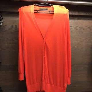🚚 G2000亮橘色長版薄外套