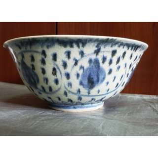 Buy 2 get 1 free, purchase any 2 items and get 1 free,  Genuine Ming Dynasty blue and white porcelain lotus bowl,  used for study Ming Dynasty blue and white porcelain,  真品明代青花莲纹碗, 供学习研究明代青花瓷器用