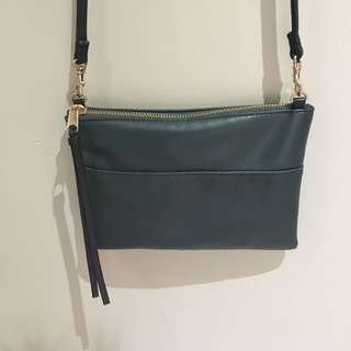H&M Small Teal Faux Leather Bag
