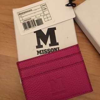 Missoni 真皮card holder