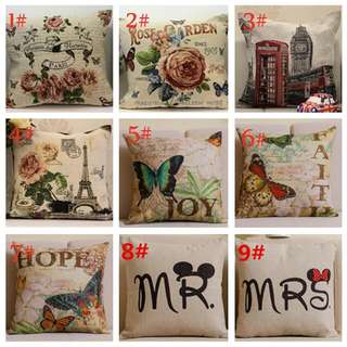 Cotton Linen cushion pillow cover bed head back car waist office sofa cushion back cushion backing block