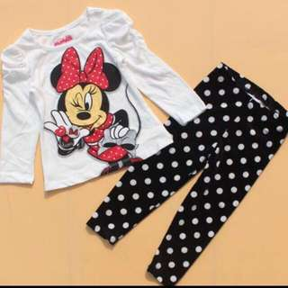 Minnie Mouse Pyjamas For Age 6months -5 yrs Old