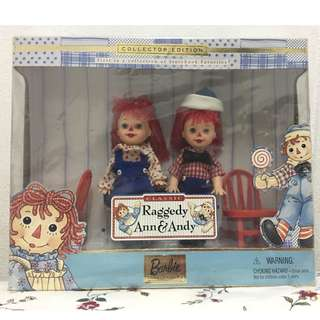 BARBIE Kelly & Tommy Doll as Raggedy Ann & Andy