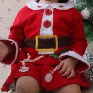 Christmas santa dress baju