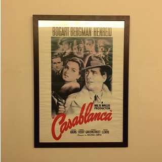 Framed Vintage Casablanca Movie Poster