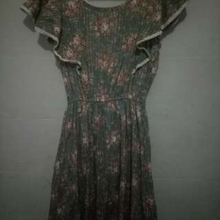 Dress wanita motif bunga