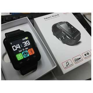 BLACK - Bluetooth smart watch for IOS Android Smart Phone Telephone Watch