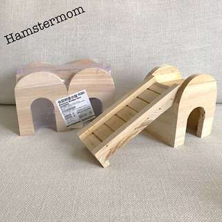 Hamster Wooden Slide & Bridge 2 in 1 Hideout Toy