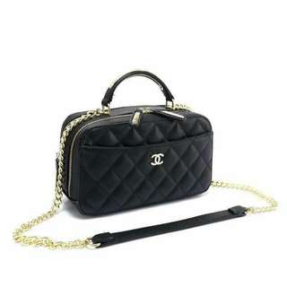 Chanel Satchel Caviar Bag Black