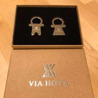 Boy and Girl Couple Keychain