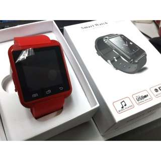 RED - Bluetooth smart watch for IOS Android Smart Phone Telephone Watch