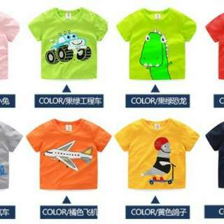 4 Set T-shirt Kids (Can mix design)