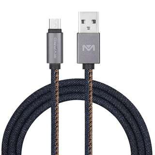 Mypro denim braided charging data cable type-c, lightning, micro usb