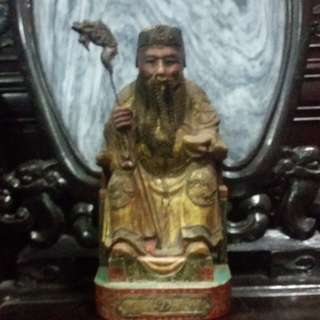 China Vintage Tauism God ( Fu De Chen Sen )