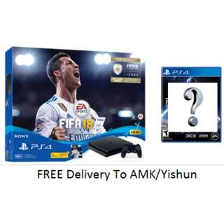 (Extra Game Value Up To $65) PS4 Slim 500gb Fifa 18 Bundle