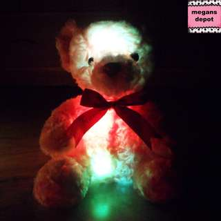 Glowing Night Light Teddy Bear (Brown)