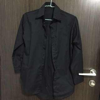 Black Button Down Top/Shirt