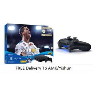 (Cashback $10) (Extra Controller) PS4 Slim 500gb Fifa 18 Bundle