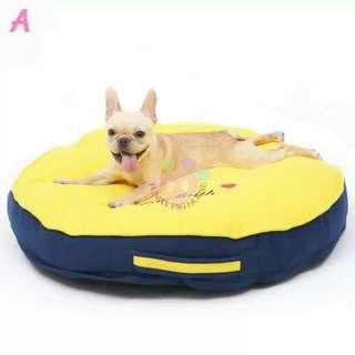 全新 圓形舒適寵物床墊  可拆洗寵物床  寵物窩  寵物墊  寵物用品