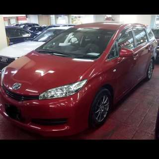 Toyota wish 1.8x A for rent.