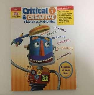 Critical & Creative Thinking activities grade 1 by Evan moor