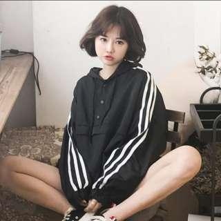 Korean black hoodie