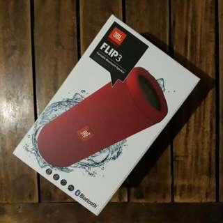 JBL Flip 3 Portable Bluetooth Speaker (Red)