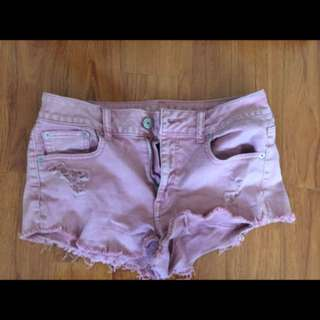 AE pink ripped short shorts