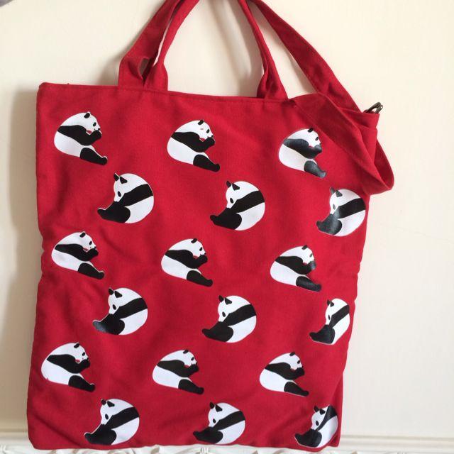 熊貓2用背袋購物袋