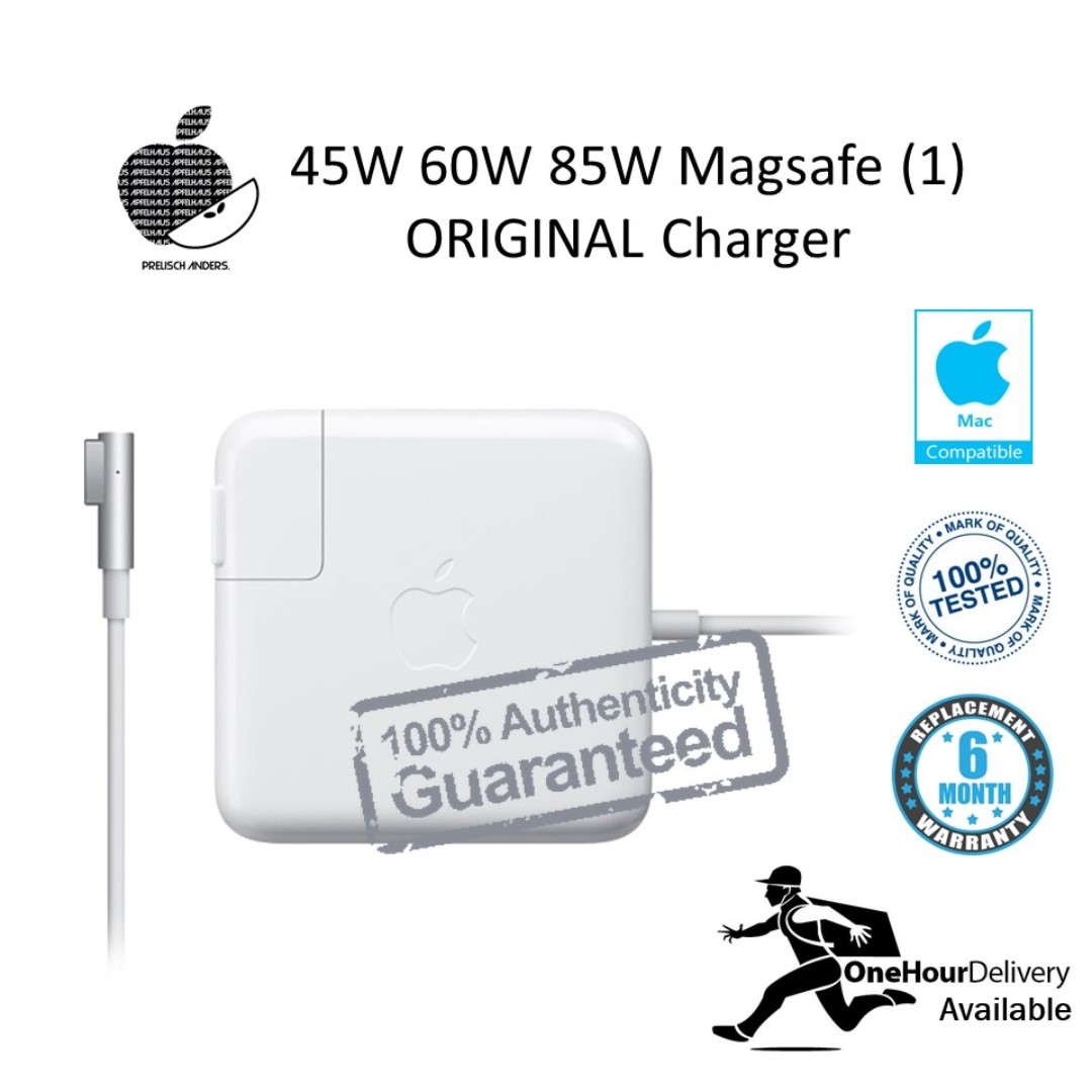 45w 60w 85w Macbook Magsafe 1 Original Charger Electronics Apple A1343 Adapter Pro 15 Photo