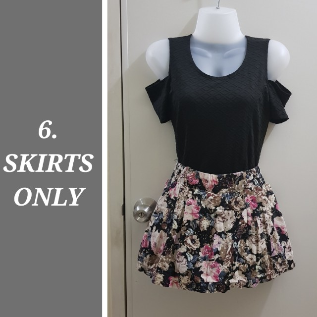 4 skirts for 499php