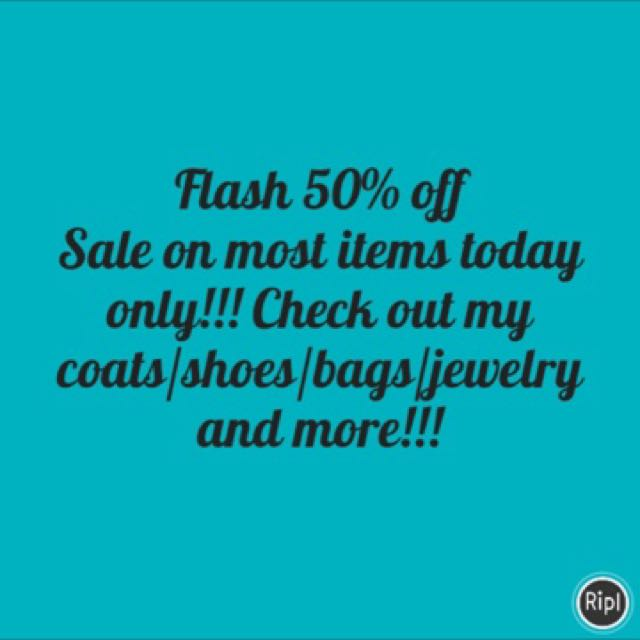50% off almost everything!!!