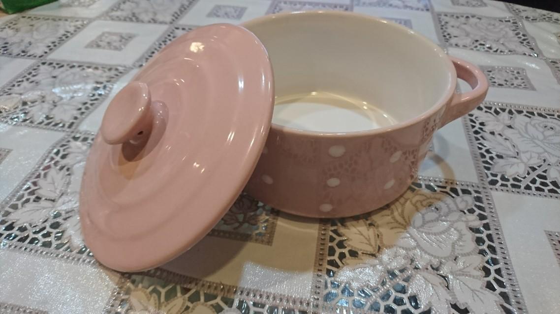 粉紅點點風瓷鍋