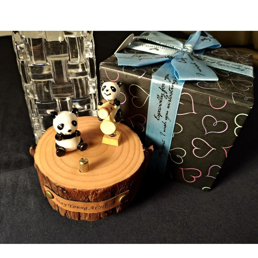 小熊貓音樂盒(發條)