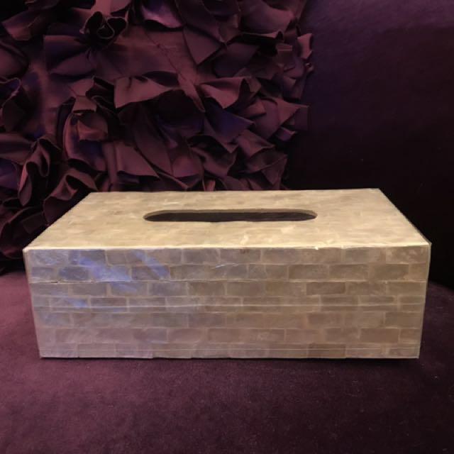 虹彩貝殼家用面紙盒/擺飾❤️