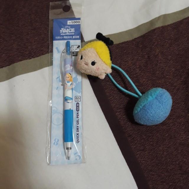 迪士尼愛麗絲髮帶&原子筆