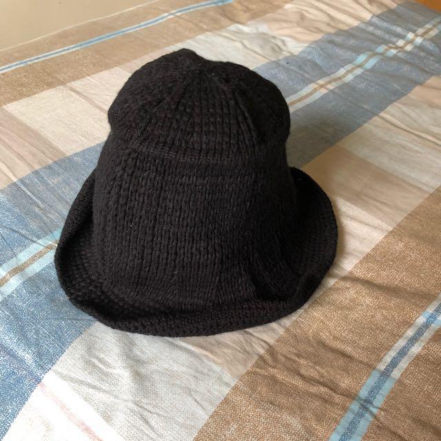 正韓 編織捲邊漁夫帽