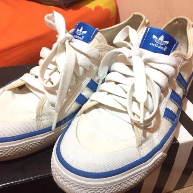 bc6010789541 Adidas Nizza Low (Off White   Blue)